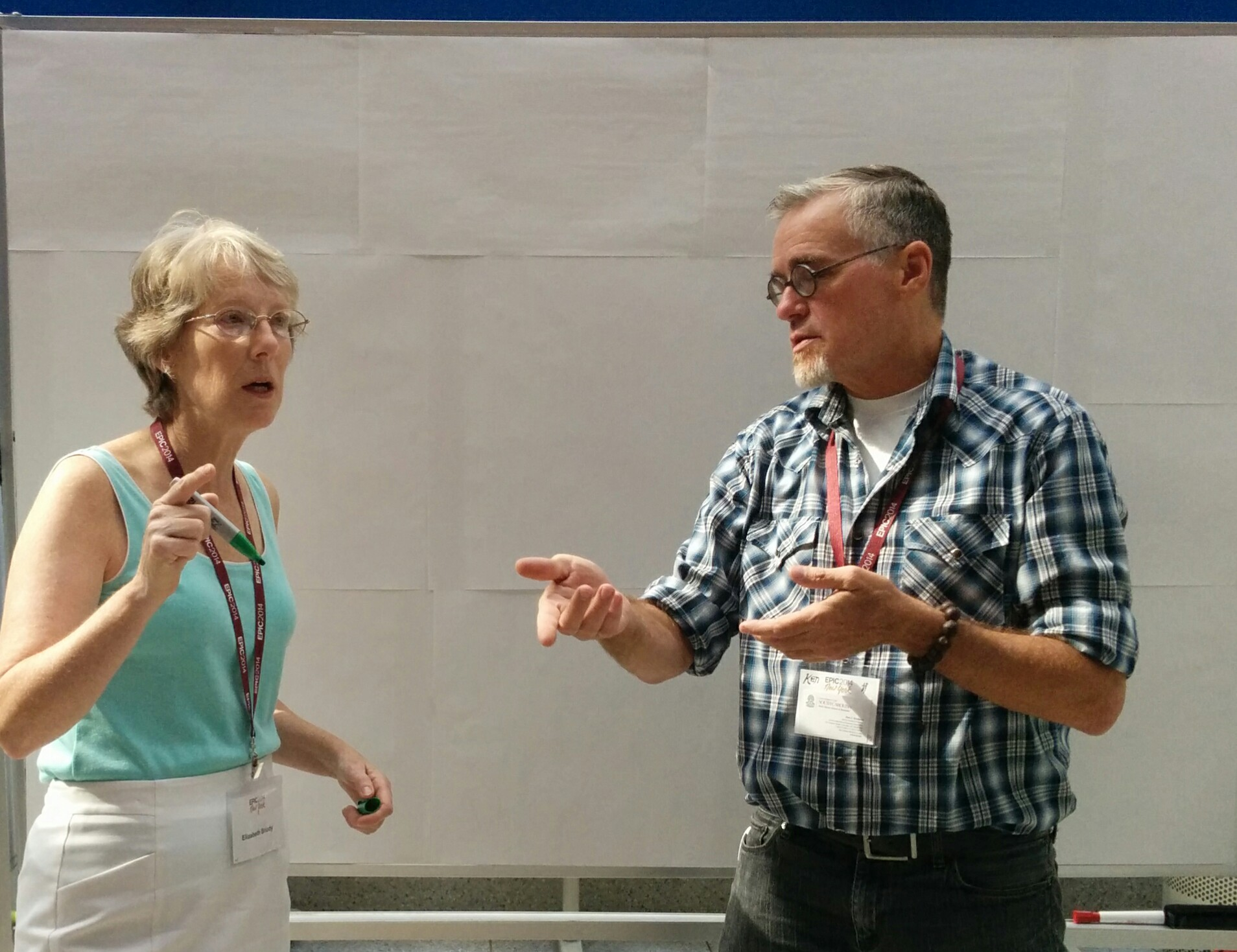 Elizabeth Briody and Ken Erickson at their EPIC2014 workshop