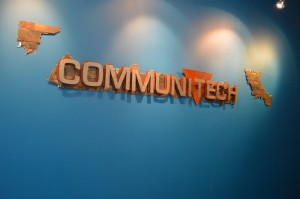 """CommuniTech"" sign"