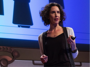 Maria Bezaitis giving a TED talk in 2013