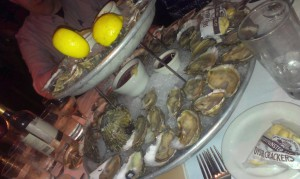 Oyster buffet at AAA
