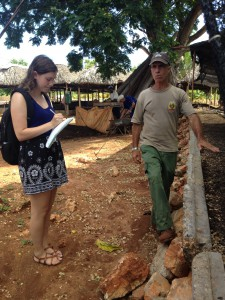 A student from the University of Minnesota learns about urban farming in Cuba