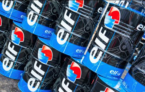 Elf Aquitaine cans