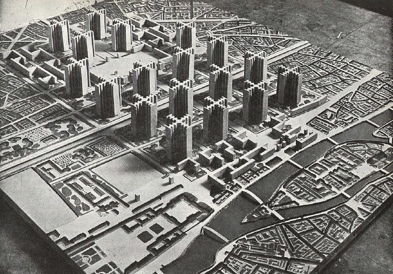 Le Courbusier: Plan Voisin in Paris by Amber Case, CC BY-NC 2.0, https://www.flickr.com/photos/caseorganic/5015467532