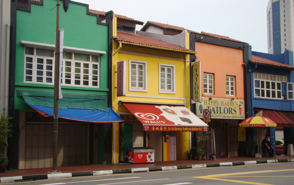 Singapore Shop Houses VasenkaPhotography CC BY 2.0