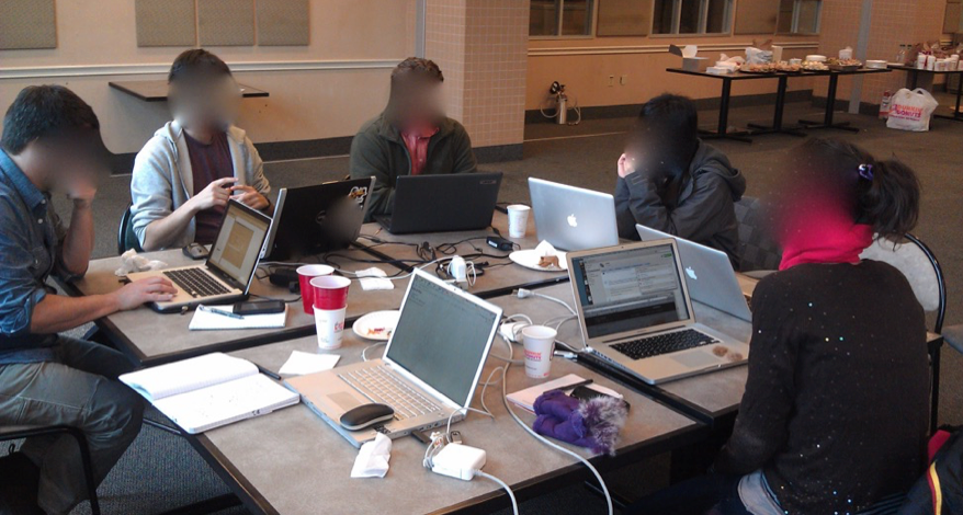 Fieldwork at a civic hackathon