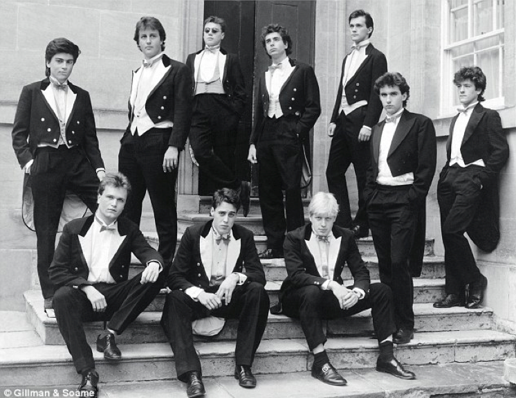 Members of the Bullingdon Society, Oxford 1987