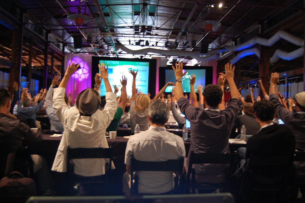 tech crunch disrupt hands