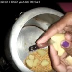 "screenshot of YouTube cooking video ""Housewife ka simple routine II Indian youtuber Ravina II"""