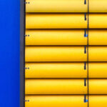photo of yellow blinds