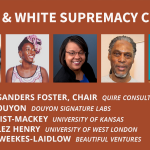 design & white supremacy culture, headshots of panelists